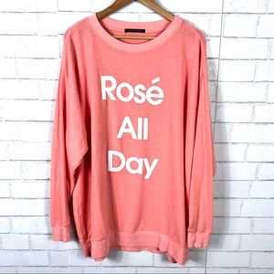 NEW Wildfox Rose All Day Baggy Beach Jumper